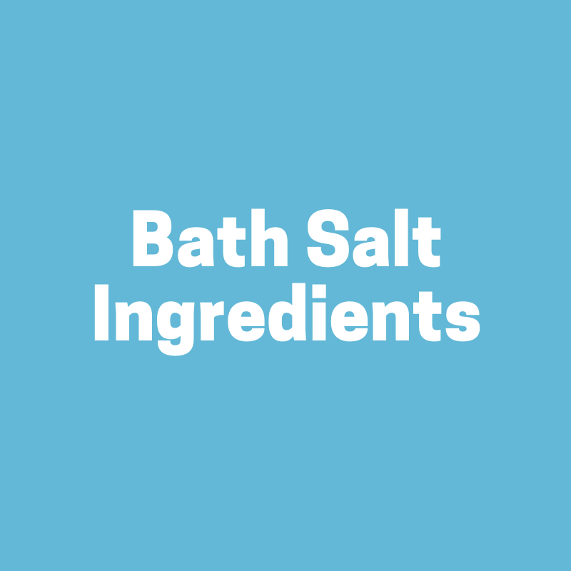 Bath Salt Making Ingredients