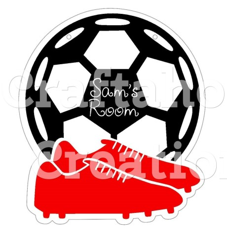 Pack 4 Soccer Acrylic Blanks with Electronic Cutting File
