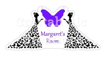 Butterfly Dress for Acrylic & MDF Hangers