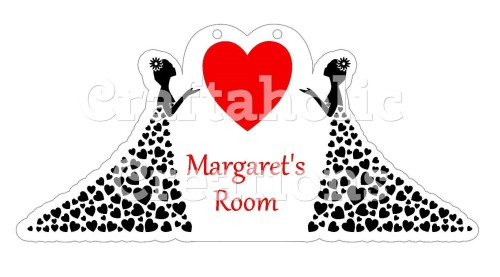 Heart Dress for Acrylic & MDF Hangers