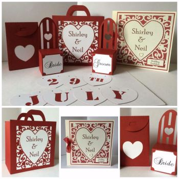 Heart Scroll Wedding Collection