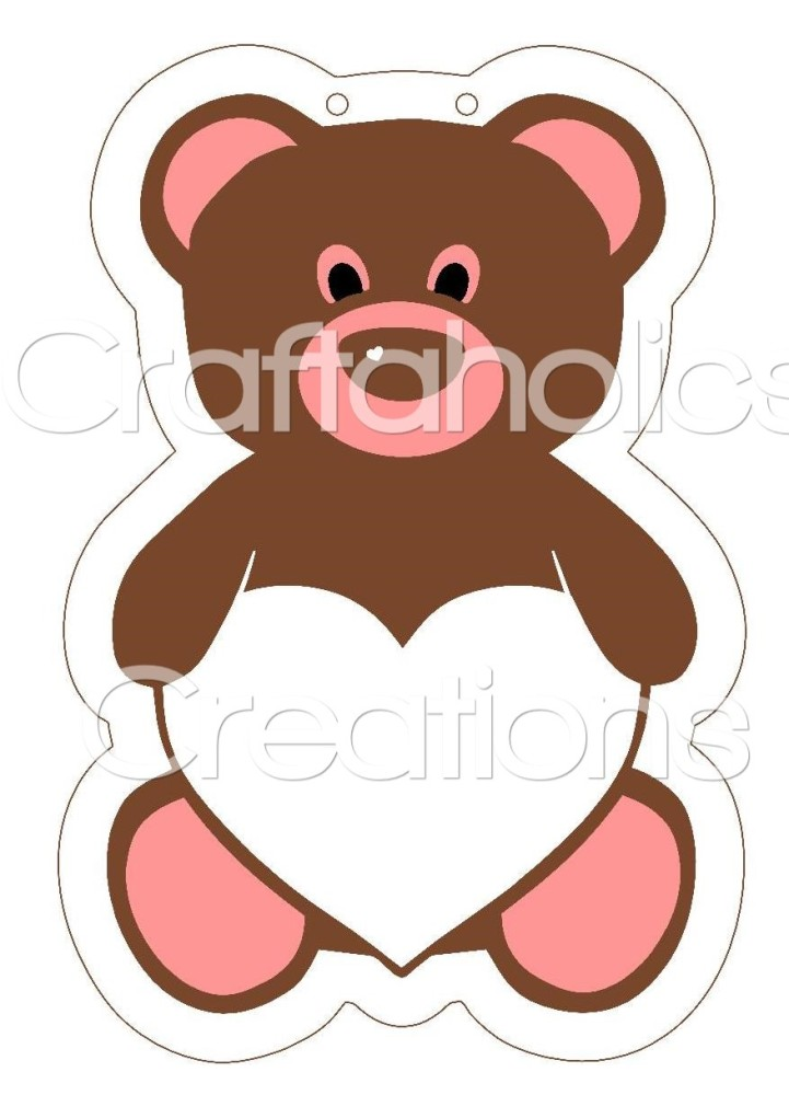1 x Teddy Clear Acrylic Blank