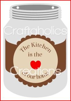 Mason Jar Labels for Acrylic & MDF Hangers