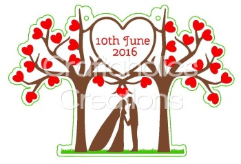 1 x Wedding Trees Clear Acrylic Blank