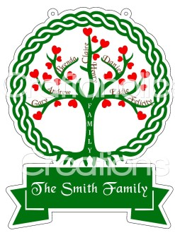 Family Tree for Acrylic & MDF Hangers