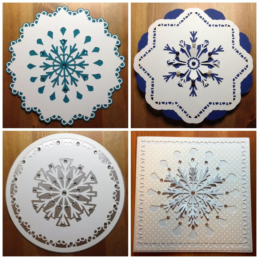 Set of 4 Snowflake Toppers