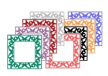 Butterfly Frame Cutting Files & JPG