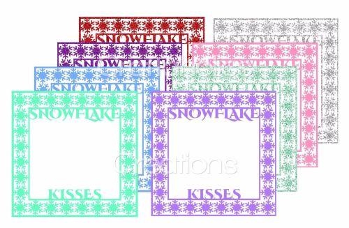 Snowflake Frame Cutting Files & JPG