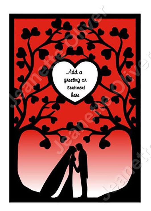 Wedding Trees.........suitable for frames
