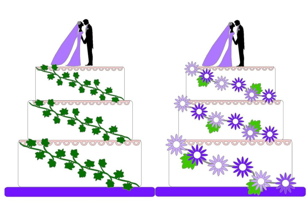 Wedding Cake Toppers & Shaped Card