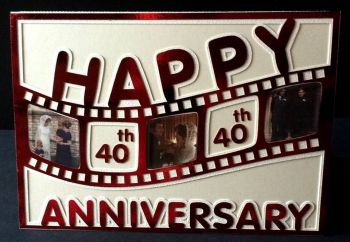 Happy Anniversary Film Strip Topper with a bonus A5 aperture card