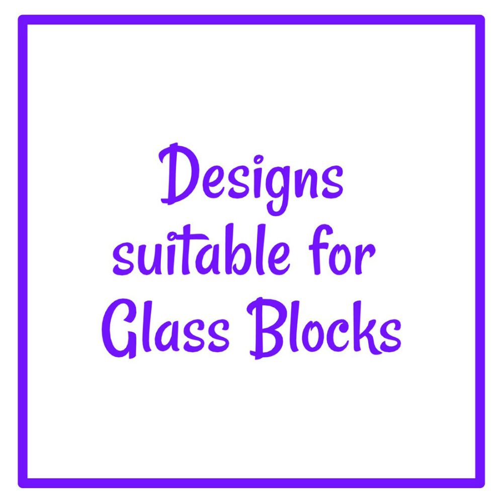 Designs Suitable For Glass Blocks
