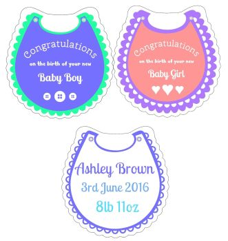Starter Kit - Pack 4 Baby Bibs Clear Acrylic Blanks with Electronic Cutting File