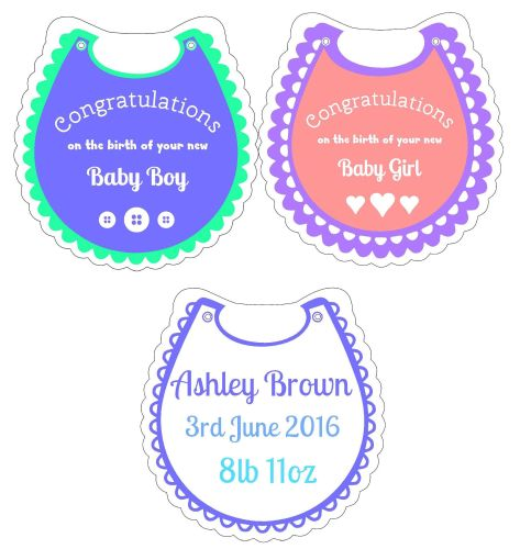 Starter Kit - Pack 4 Baby Bibs Clear Acrylic Blanks with Electronic Cutting