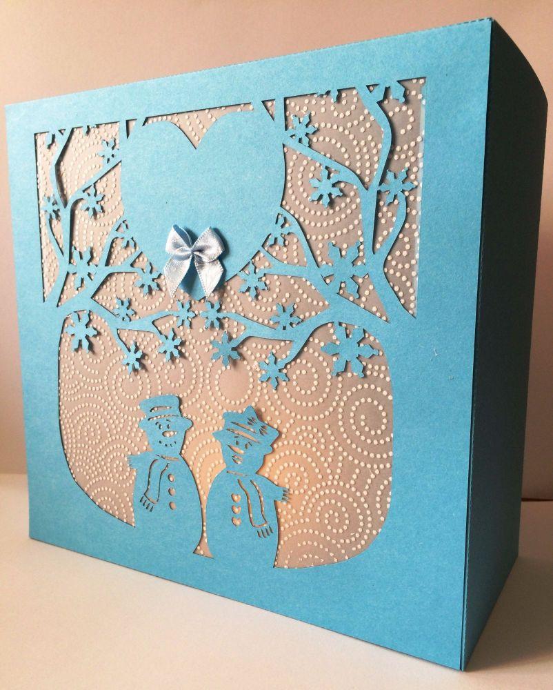 Snowflake Trees Gift Box / Luminaire