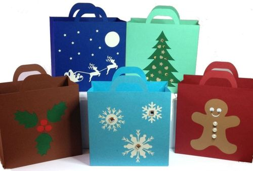 Set of 5 Easy Christmas Bags