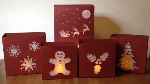 Set of 5 Nested Christmas Luminaire