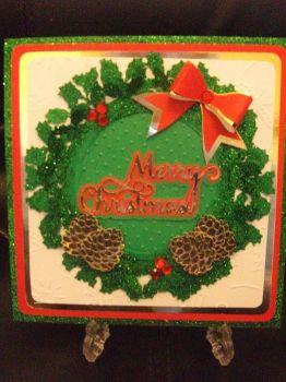Create a Holly Wreath