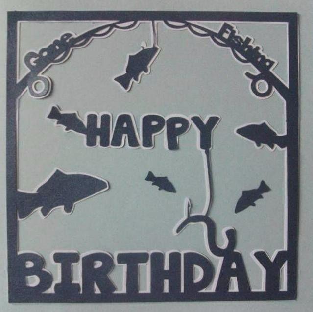 Happy Birthday Fishing Topper