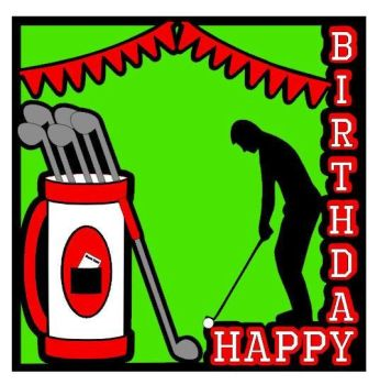 Happy Birthday Golf Topper