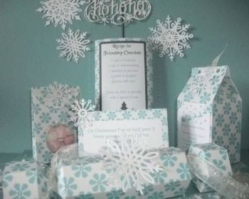 Blue Snowflakes Christmas Craft Kit