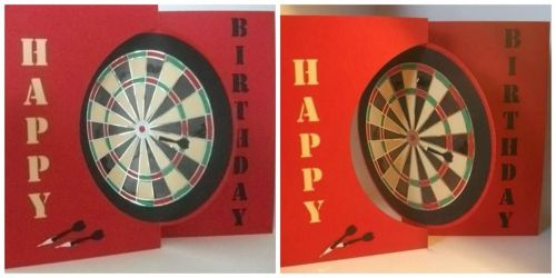 Darts Flip Swing Card