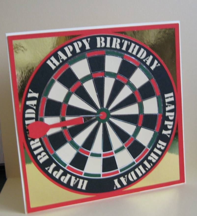 Large Happy Birthday Darts Topper