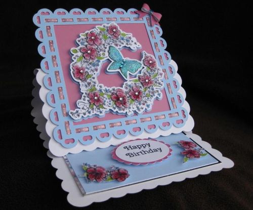 Floral Butterfly Topper & Aperture Card