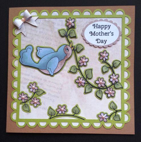 Cute Bird Topper And 6x6 Aperture Card