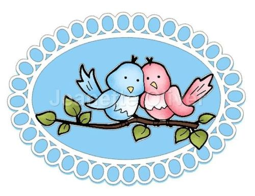 Love Birds On Branch & Aperture Card