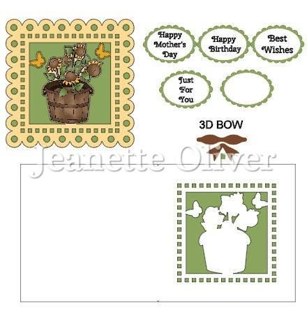 Potted Sunflowers Topper & Aperture Card