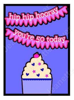Hip Hip Hooray 50th Birthday