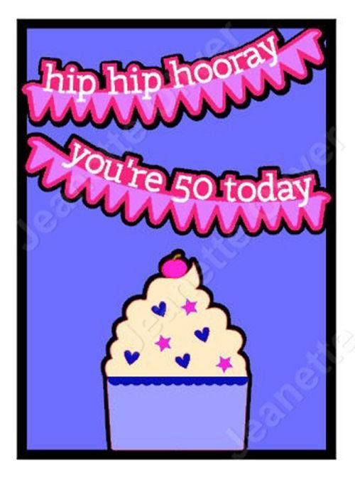 Hip Hip Hooray 50th Birthday