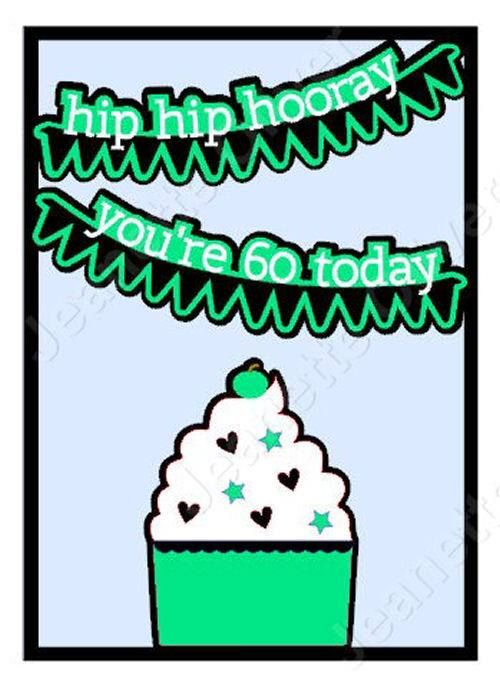 Hip Hip Hooray 60th Birthday