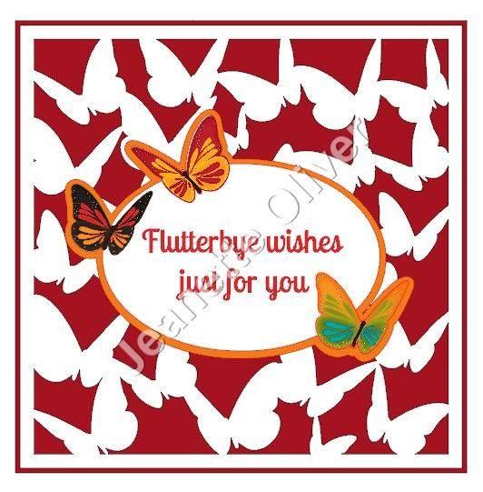 Flutterbye Wishes Frame
