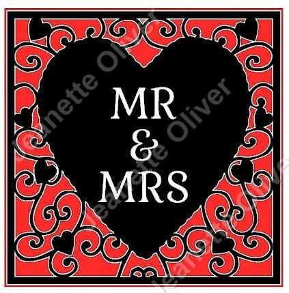 Mr & Mrs Heart Frame