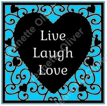 Live Laugh Love Heart Frame