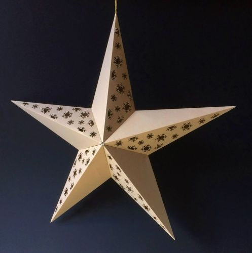Large 3d Star with Snowflake design