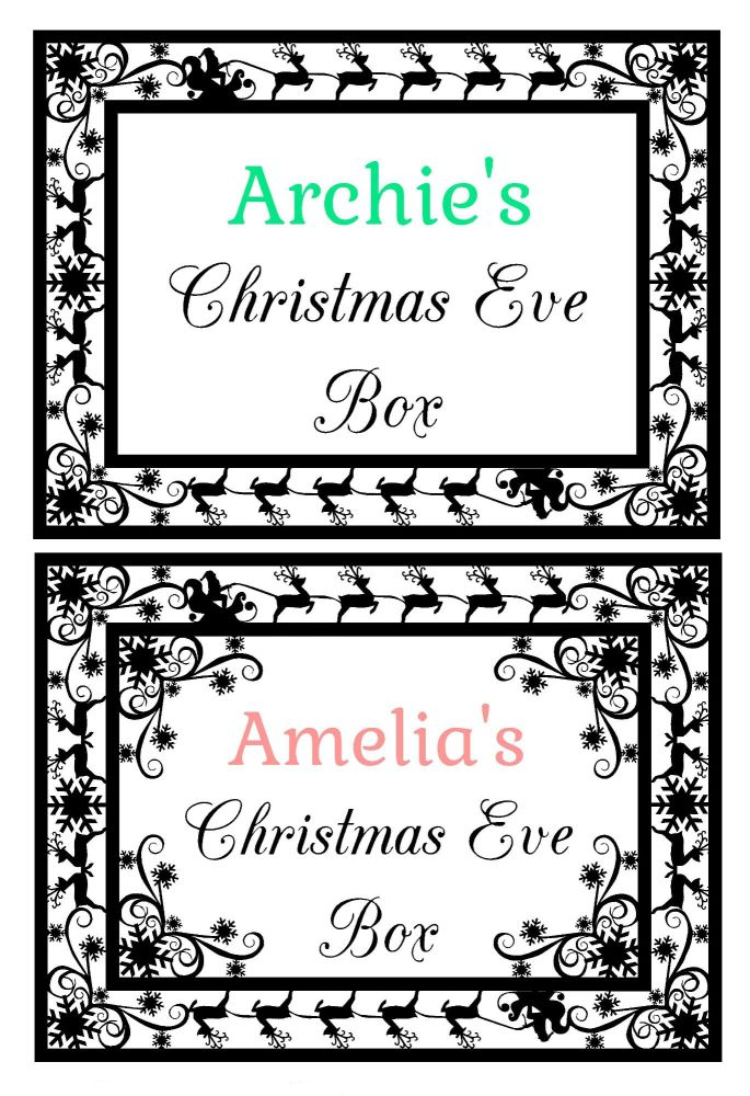 Christmas Eve Box Topper Design 1