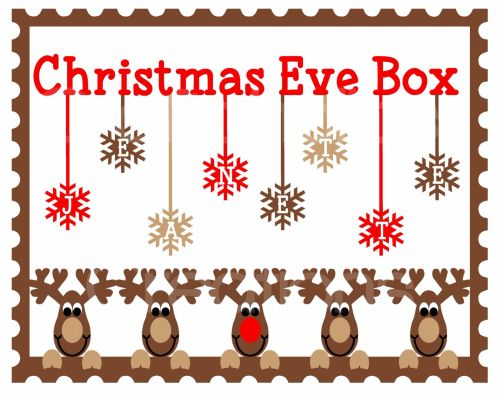 Christmas Eve Box Topper Design 4