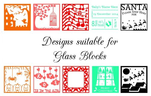 Collection of 10 Glass Block Designs