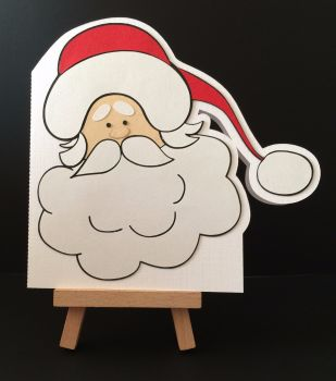 Santa Card with FREE Christmas Craft Kit