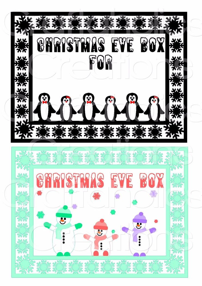 Christmas Eve Box Topper Design 6