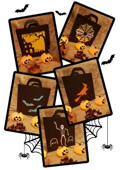 Set of 5 Easy Halloween Bags