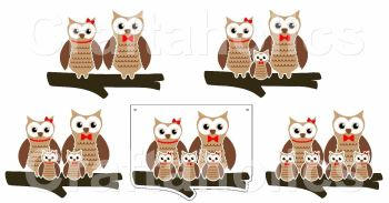 Starter Kit - Pack 4 Owl Acrylic Blanks with Electronic Cutting File