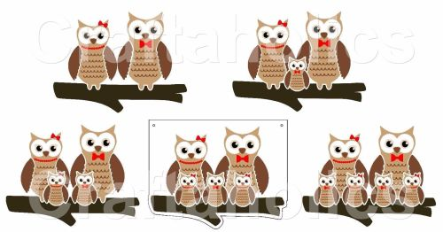 Owl Family for Acrylic Hangers