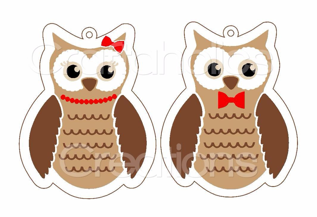 Owl Minis for Acrylic Hangers