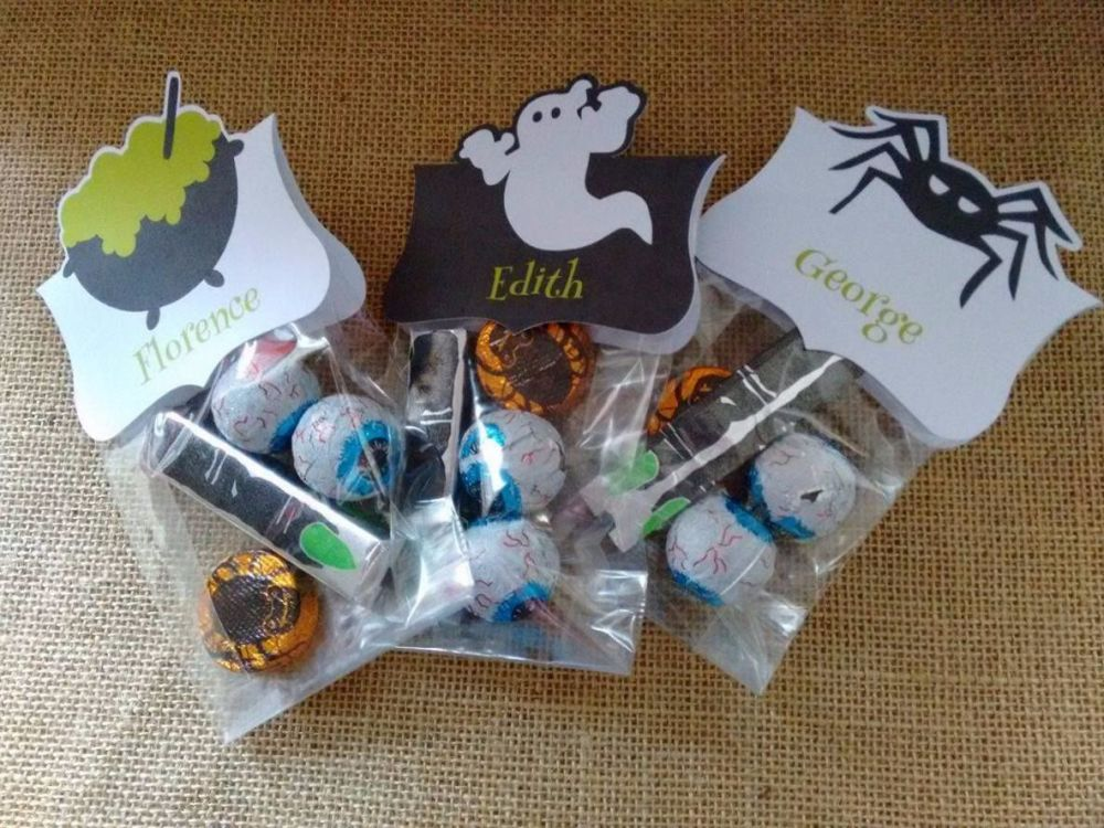 Set of 3 Halloween Bag Toppers
