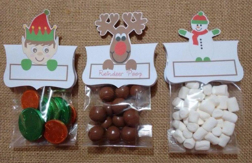Set of 3 Christmas Bag Toppers SET 1