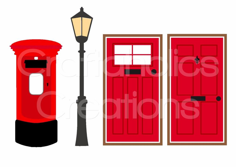 Doors, Post Box & Lamp Post